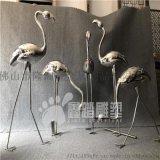 镜面火烈鸟不锈钢雕塑 造型千姿百态
