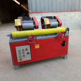 双组钢管全自动抛光机,燃气管道除锈机