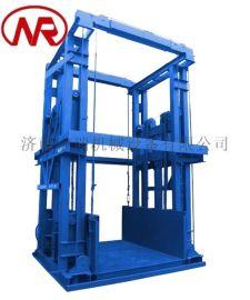 导轨式液压货梯 现场安装升降平台 梯井货梯
