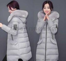 便宜女士棉服韩版女装棉衣时尚尾货羽绒服中长款棉袄