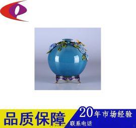 东莞厂家提供金属工艺品 珐琅彩瓷瓶金属部件加工