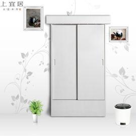 整体衣柜卧室移门两门衣柜组合柜家具定制厂家直销