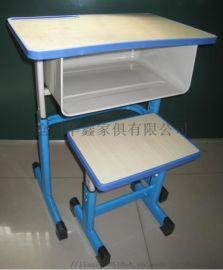 可定制双层斗课桌椅  塑钢学生桌