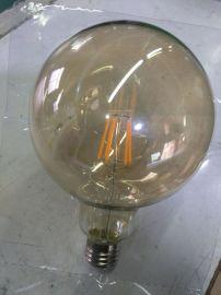 批发G125LED灯丝泡6W LED球泡灯 LED钨丝灯