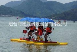 海德龙聚乙烯三人家庭休闲水上自行车游乐设备