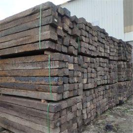 油浸枕木二手枕木 鬆木礦用防
