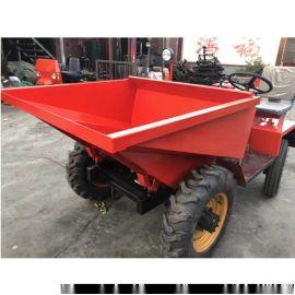 工地运输用柴油一吨翻/工程运输前卸式翻斗车