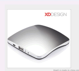工厂直批 **XDdesign吸附式贴窗太阳能移动电源 太阳能手机充电器