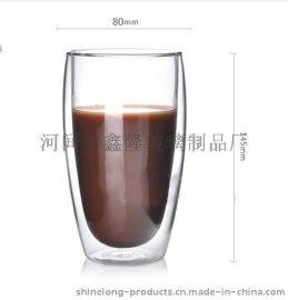 450毫升玻璃杯 耐热双层杯 保温饮料杯水杯可定制款式