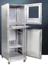 松珈BPC不锈钢电脑柜 ,不锈钢网络机柜