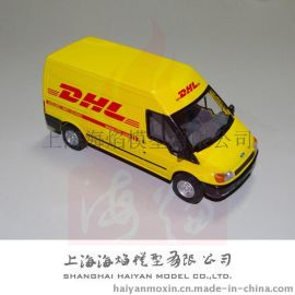1: 32 DHL 全顺面包车模型合金材质