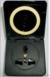 供应10A黑色多功能防水插座、万用插座