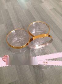 烧饼包装用金边塑料圆桶