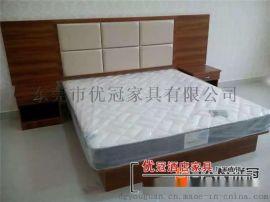 商务酒店用单人双人床全套,价格低,厂家直销批发零售