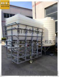 紹興定制加工印染推布車 750L海鮮運輸pe方桶