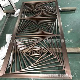 防指纹不锈钢隔断制作 KTV不锈钢背景墙厂家 吊顶金属不锈钢通花