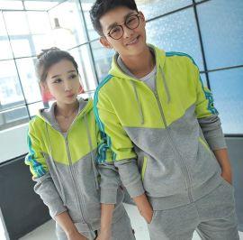 上海廠家直銷春秋衛衣棒球衫情侶衛衣套裝量大可議價支持繡字印花