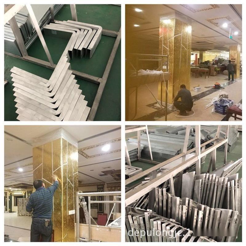 上海中石化加油站包柱铝单板-立柱白色铝板来图定制