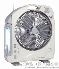 供应292B 多功能12英寸可充电风扇 应急风扇(带荧光管照明收音机功能)