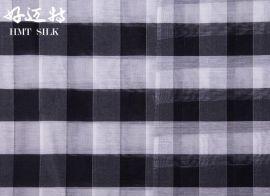 10.5 MM色织丝棉格子 新款服装面料