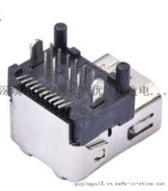 迷你DP接口 DispalyPort 20P USB母座  DIP+SMT