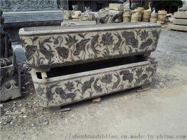 仿古抱鼓、花窗、石槽、花盆、石盆、石桌