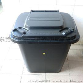 东莞力源防静电垃圾桶厂家,60升防静电环卫塑料垃圾桶.