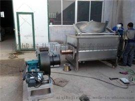 供应小型电加热半自动油炸机 连续油炸整套 燃油油炸机价格