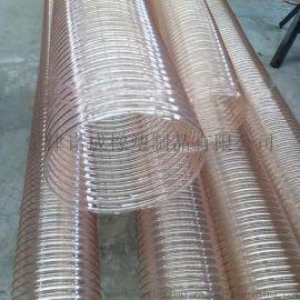 江苏木工机械专用pu软管、聚氨酯钢丝管、除尘通风pu软管