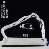 广州水晶奖牌定制 企业体育比赛选手水晶冰山纪念奖牌
