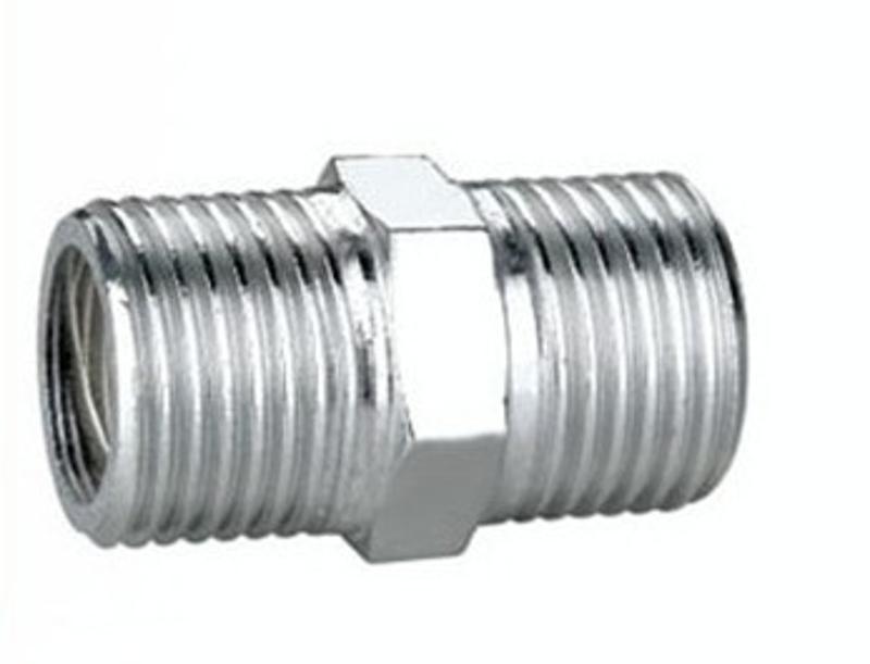 厂家直销 不锈钢对丝接头 外螺纹转换接头 外丝牙液压管接头