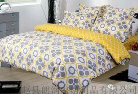 純棉印花牀上用品 四件套  牀單 被罩 枕套 牀笠