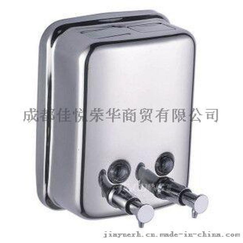 双头手动皂液器 304不锈钢洗手液盒 挤压壁挂式