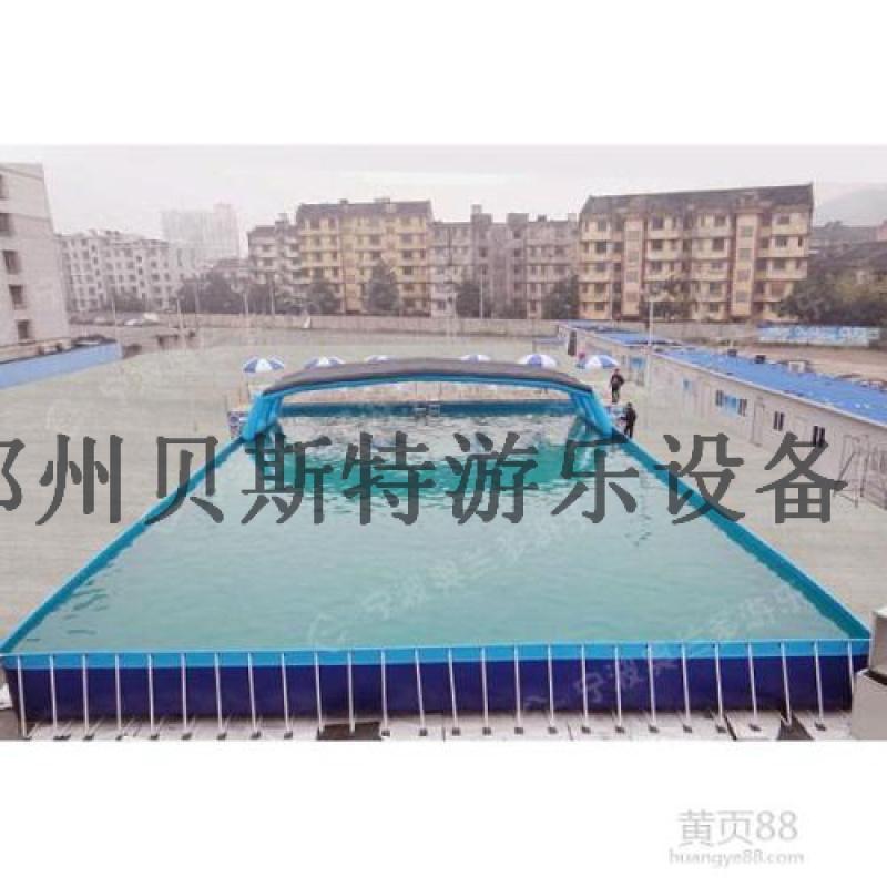 黑龍江哈爾濱支架水池水上樂園兒童充氣水滑梯廠家定製