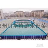 黑龙江哈尔滨支架水池水上乐园儿童充气水滑梯厂家定制