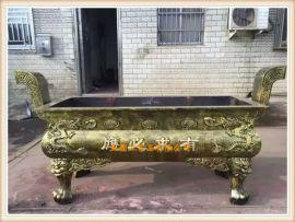 正圆工艺铸铁长方形平口香炉 寺院长方形平口香炉厂家