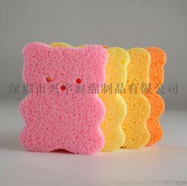 兴宇海绵深圳厂家直销婴儿沐浴清洁木浆棉