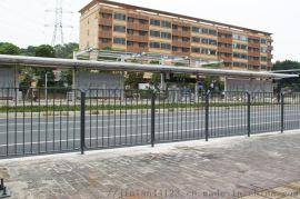 广东河源镀锌钢护栏庭院绿地隔离栏锌钢护栏多少钱一米