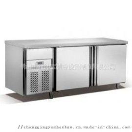 两门横放烤盘,卧式工作台,不锈钢工作厨房冷冻工作台
