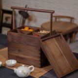 中式食盒定制手提木盒实木多层收纳盒