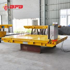 加工设备500吨钢丝绳平板车 汽车装配线无轨电动平车负载验收
