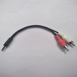 3.5MM一分二RCA音频AV线3.5转双莲花头