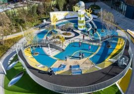 幼儿园户外设计户外儿童乐园设施攀爬架无动力木质滑梯