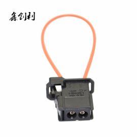 现货**跨境电商MOST汽车光纤检测环公母光纤短接头短路测试环