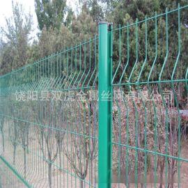 廠價包塑鋼絲網  框架隔離柵護欄網  綠膠皮金屬網