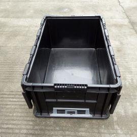翻盖储物箱 物流周转箱仓储运输塑料箱 蓝色灰色翻盖周转箱供应