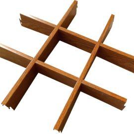 铝格栅厂家规格定制木纹网格天花铝格栅天花吊顶