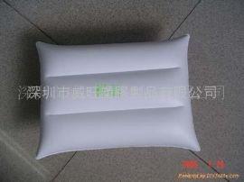 专业定做生产 pvc充气枕,PVC吹气 方枕