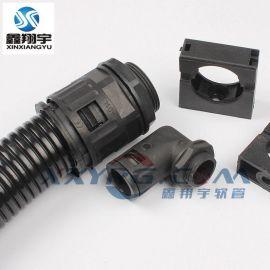 PG11/M18配套AD15.8mm波纹管/塑料波纹软管尼龙快插式直接头