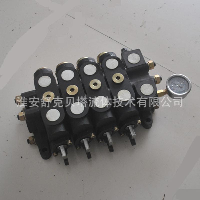 DL20-4OW-带压力表系列打包机液压多路阀